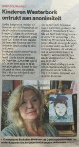 Westerbork Scholenproject Ruurlo krantenartikel